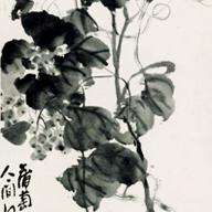 No.7 墨葡萄図軸